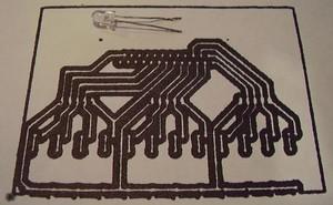 PCB drawing.