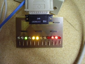 Parallel port breakout board